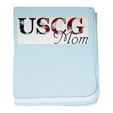 Mom USCG_flag .png baby blanket