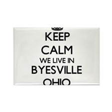 Keep calm we live in Byesville Ohio Magnets