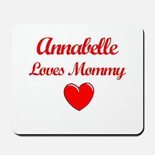 Annabelle Loves Mommy Mousepad
