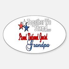 National Guard Grandpa Oval Decal