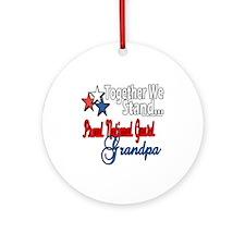 National Guard Grandpa Ornament (Round)