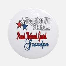 National Guard Grandpa Ornament (Round)