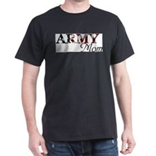 Army Mom (Flag) Ash Grey T-Shirt