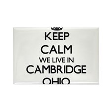 Keep calm we live in Cambridge Ohio Magnets