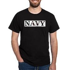 Navy (Flag) Ash Grey T-Shirt