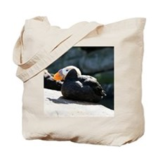 Tufted Puffins Tote Bag