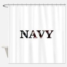 NAVY_flag copy.png Shower Curtain