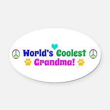 World's Coolest Grandma Oval Car Magnet