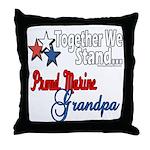 Marine Grandpa Throw Pillow