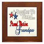 Marine Grandpa Framed Tile