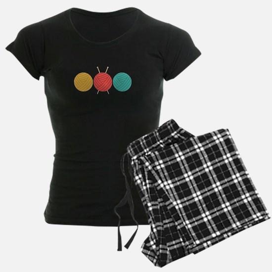 Yarn Balls Knitting Pajamas