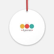 Handmade Knitting Ornament (Round)