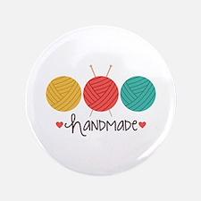 """Handmade Knitting 3.5"""" Button"""