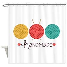 Handmade Knitting Shower Curtain