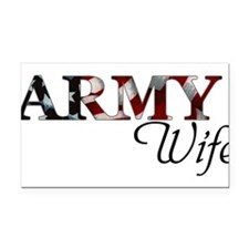 Wife Army_flag .png Rectangle Car Magnet