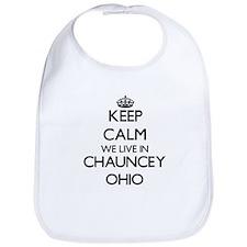Keep calm we live in Chauncey Ohio Bib