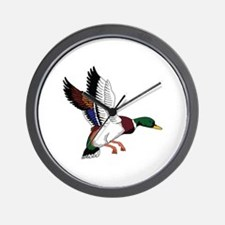 FLYING MALLARD DUCK Wall Clock