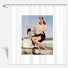 Vintage Pin-Up Shower Curtain