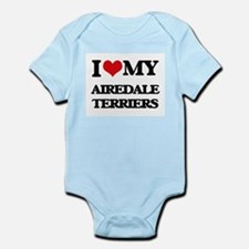 I love my Airedale Terriers Body Suit