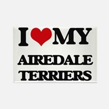 I love my Airedale Terriers Magnets