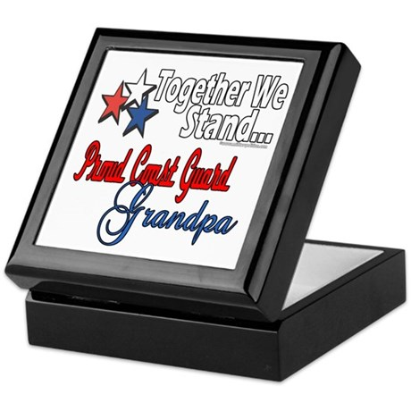 Coast Guard Grandpa Keepsake Box
