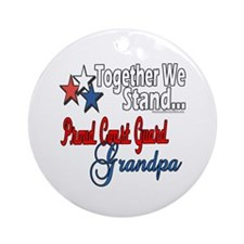 Coast Guard Grandpa Ornament (Round)