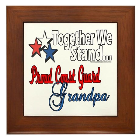 Coast Guard Grandpa Framed Tile
