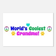 World's Coolest Grandma Postcards (Package of 8)