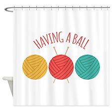 Having a Ball Shower Curtain