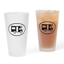 Camper Oval Design Drinking Glass