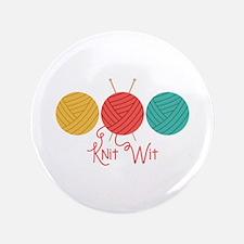 "Yarn Balls Knit Wit 3.5"" Button"