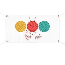 Yarn Balls Knit Wit Banner