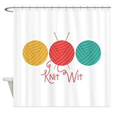 Yarn Balls Knit Wit Shower Curtain
