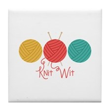 Yarn Balls Knit Wit Tile Coaster