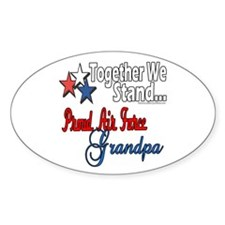 Air Force Grandpa Oval Decal
