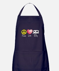 Peace, Love, RVing Apron (dark)