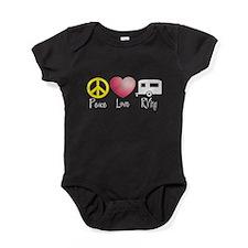 Peace, Love, RVing Baby Bodysuit