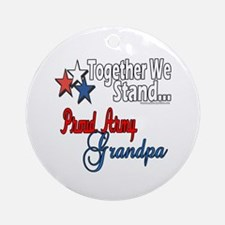 Army Grandpa Ornament (Round)