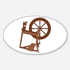 Yarn Spinning Wheel Decal