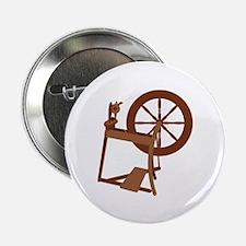 "Yarn Spinning Wheel 2.25"" Button (10 pack)"