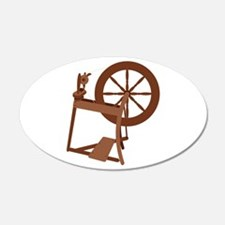 Yarn Spinning Wheel Wall Decal