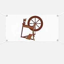 Yarn Spinning Wheel Banner
