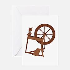 Yarn Spinning Wheel Greeting Cards