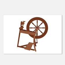 Yarn Spinning Wheel Postcards (Package of 8)