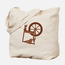 Yarn Spinning Wheel Tote Bag