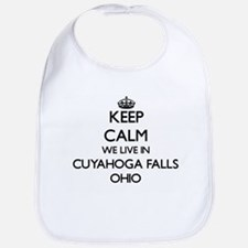 Keep calm we live in Cuyahoga Falls Ohio Bib