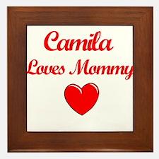 Camila Loves Mommy Framed Tile
