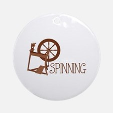 Spinning Wheel Ornament (Round)