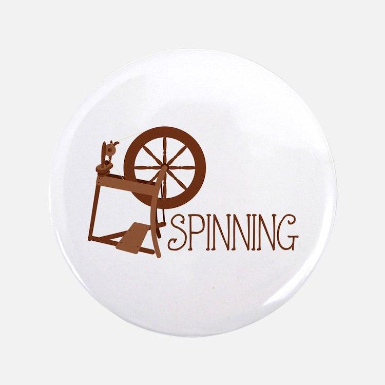 "Spinning Wheel 3.5"" Button"