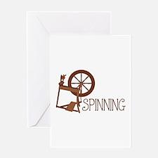 Spinning Wheel Greeting Cards